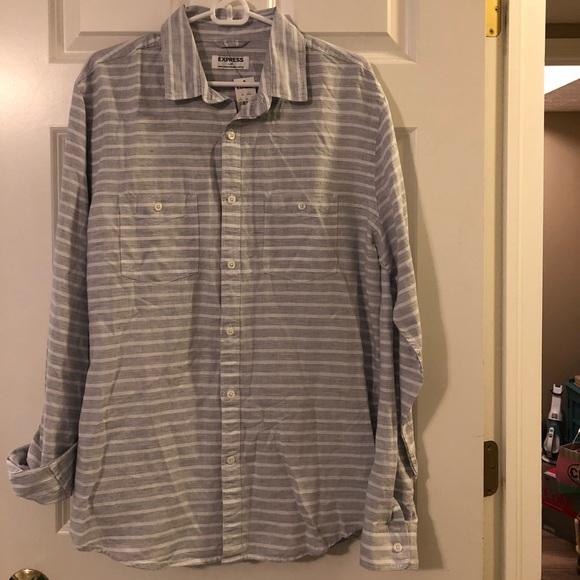 Express Other - NWT Express Men's Long Sleeve Woven Shirt